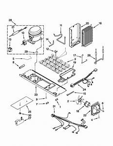 Unit Parts Diagram  U0026 Parts List For Model Ksf26c4xyb03 Kitchenaid
