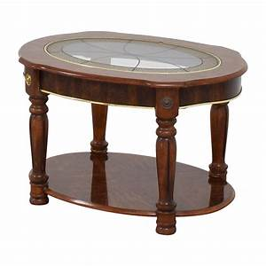 85 off vintage small round coffee table tables for Short round coffee table