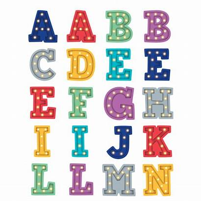Alphabet Marquee Stickers
