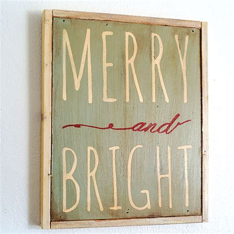 diy hand painted christmas sign with printable