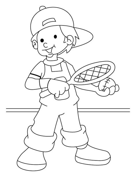tennis coloring page getcoloringpagescom