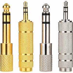 Onvian 3 5mm To 6 35mm Female 1  4 U2033 To 1  8 U2033 90 Degree Right