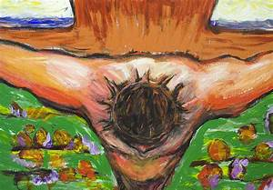 The Top View Crucifixion Of Jesus Christ Painting by ...