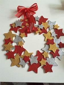Weihnachtsmann Basteln Aus Pappe : sternen t rkranz mit pappe basteln f r kinder geeignet ~ Haus.voiturepedia.club Haus und Dekorationen