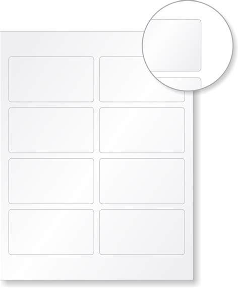 Laser Printable Blank Vinyl 8 Labelssheet, 2in X 375in