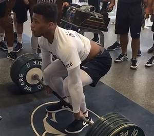 See It  Penn State Running Back Saquon Barkley Power-cleans 390 Pounds