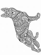 German Shepherd Adults Coloring Pages Adult Colouring Volwassenen Coloringpage Total Nice sketch template