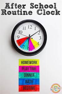 After School Routine Clock for PARENTS b/c #DesperateTimes