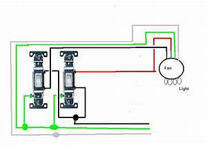Wiring diagram switches ceiling fan light kit