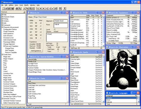 metacreator rpg character generator alterego software