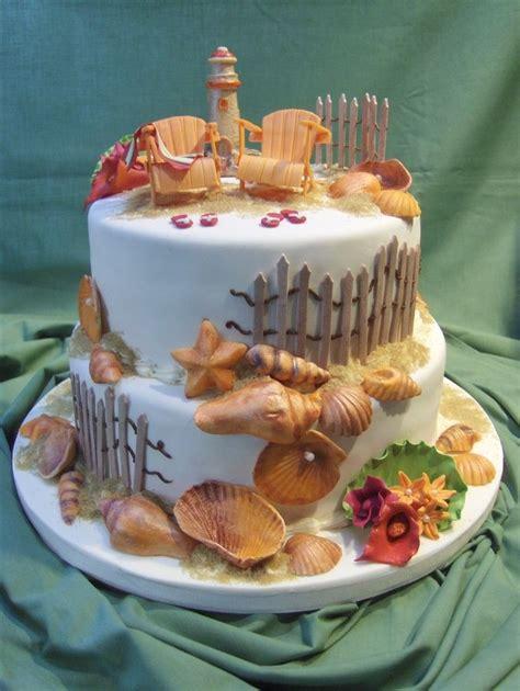 beach cake completely edible gumpaste shells