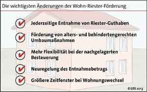 Wohn Riester Förderung : wohn riester wird flexibler bild pressemitteilung lbs ~ Lizthompson.info Haus und Dekorationen