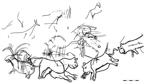 Cave Art Colouring Pages