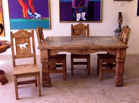 western rustic dining sets and chairs