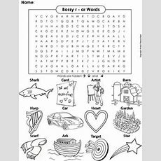R Controlled Vowels Bossy R Worksheet Ar Words Coloring Sheet Word Search
