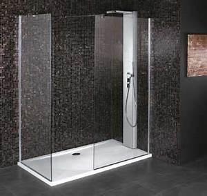 Douche Mur Verre : paroi fixe cabine de douche verre 8 mm securit anti calcaire ~ Zukunftsfamilie.com Idées de Décoration