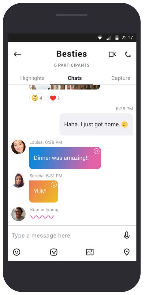 skype android google play instagram chat mobile microsoft personal line redesign messaging app snapchat connections introducing generation blogs groups phonearena