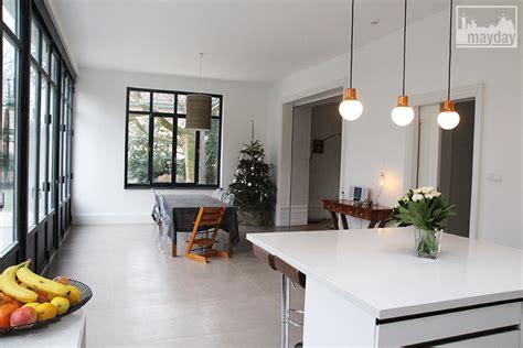 cuisine laque blanc la cuisine veranda moderne clav0054a agence mayday