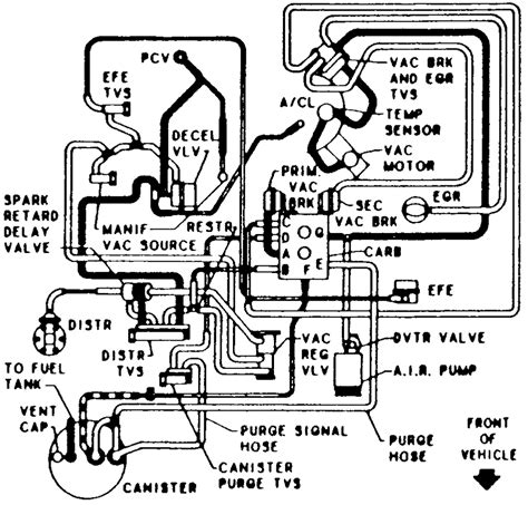 92 Chevy 1500 Transmission Diagram by Vaccum Diagram For 1984 G 20 Chevy Fixya