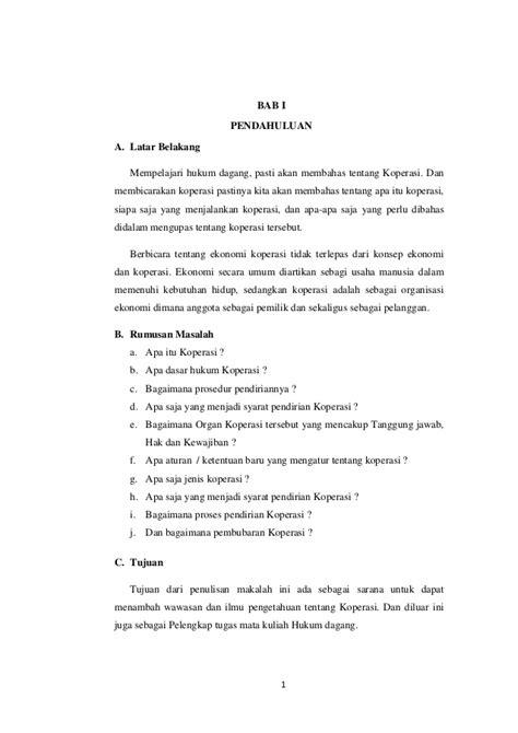 Contoh Makalah Koperasi Pdf Awan Danny Media