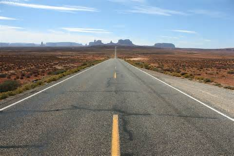 Image result for long straight road  usa