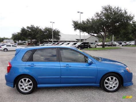 Spark Blue 2006 Kia Spectra Spectra5 Hatchback Exterior