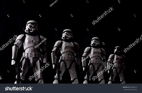 Star Wars Stormtroopers Lined Dramatic Lighting Stock