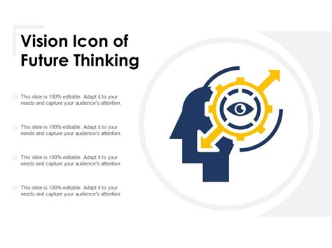 vision icon  future thinking templates powerpoint
