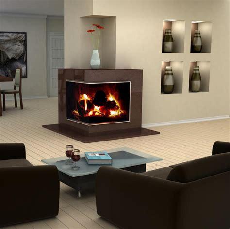 livingroom fireplace modern design idea for two sided corner fireplace living