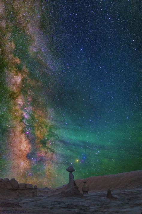 Goblins Milky Way Goblin Valley State Park Green