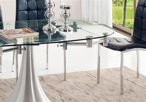 expandable glass dining table house