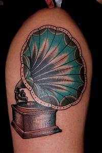 Tattoo by Seven Devils | Gramophone tattoo, Tattoo and ...