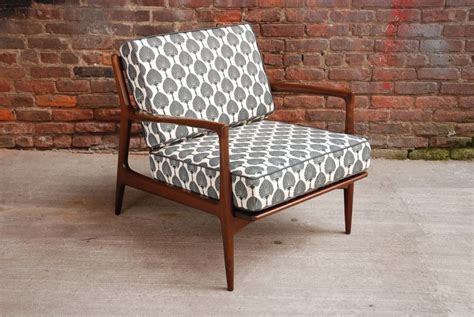 Danish Club Chair With New Upholstery And Foam.