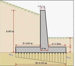 note de calcul d39un mur de soutenement cours genie civil With maison en beton banche 13 exemple de calcul de ferraillage dun voile feuille