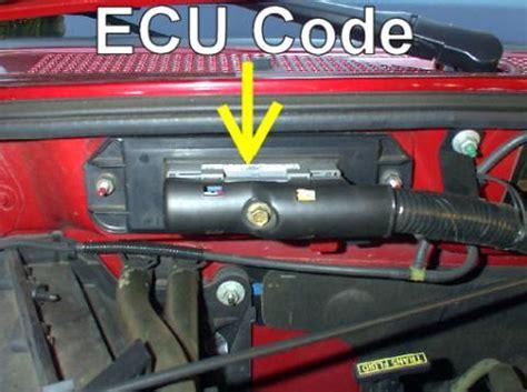 ecu location   ranger   wd ford truck