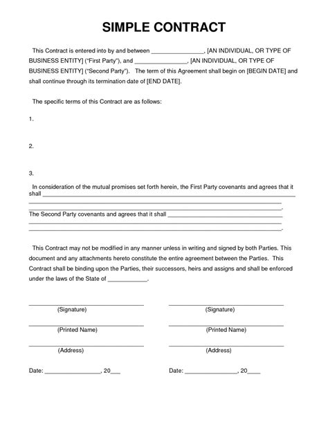 9+ Contract Agreement Letter Examples - PDF | Examples