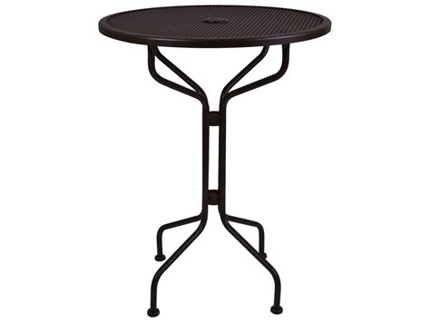 wrought iron pub table ow lee mesh wrought iron 30 round bar table 30 mbt