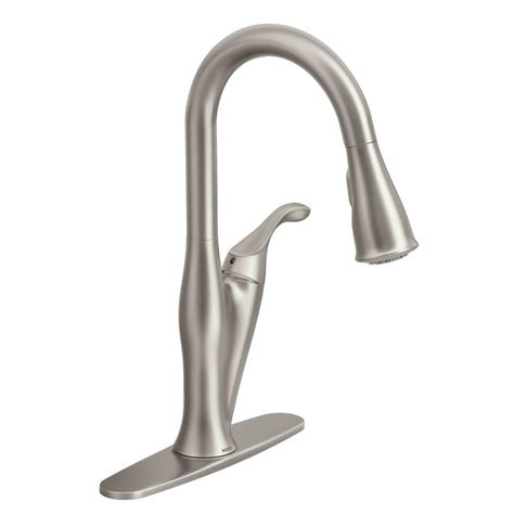moen benton single handle pull sprayer kitchen faucet with reflex in spot resist stainless
