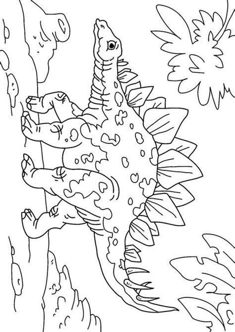 malvorlage dinosaurier stegosaurus ausmalbild