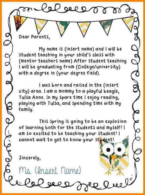 student teacher introduction letter sample