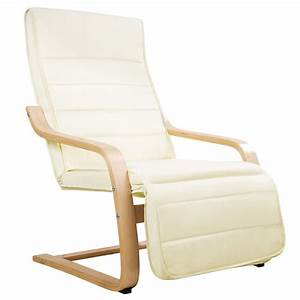 Birch bentwood fabric arm chair w footrest beige buy for Armchair covers to buy