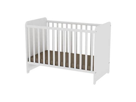 chambre bébé conforama lit bébé évolutif à barreaux blanc