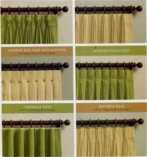drapery styles curtain pleats window treatments window