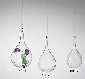 Vase Suspendu En Verre : forme de goutte d 39 eau vase suspendu en verre accueil jardin d coration de mariage slzq130 ~ Teatrodelosmanantiales.com Idées de Décoration