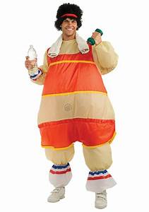 Inflatable 80s Workout Costume