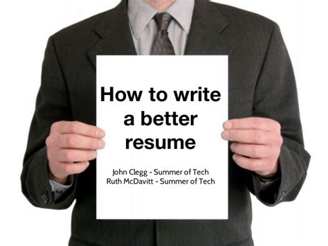 How To Write A Better Resume by Ict School How To Write A Better Resume