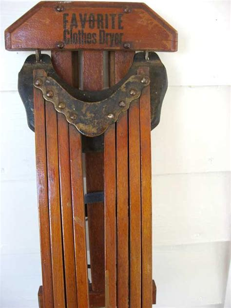 vintage  favorite clothes dryer wooden  arm wall