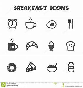Breakfast Icons Stock Vector - Image: 39083345