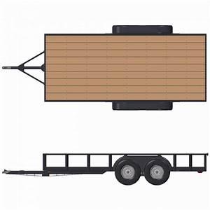 Flatbed Trailer Plans  U2013 6 U0026 39 10 U0026quot  X 16 U0026 39  Deck  U2013 12 000    14 000