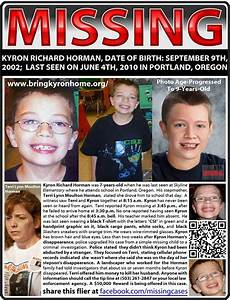 MISSING! PLEASE SHARE! KYRON RICHARD HORMAN, DATE OF BIRTH ...